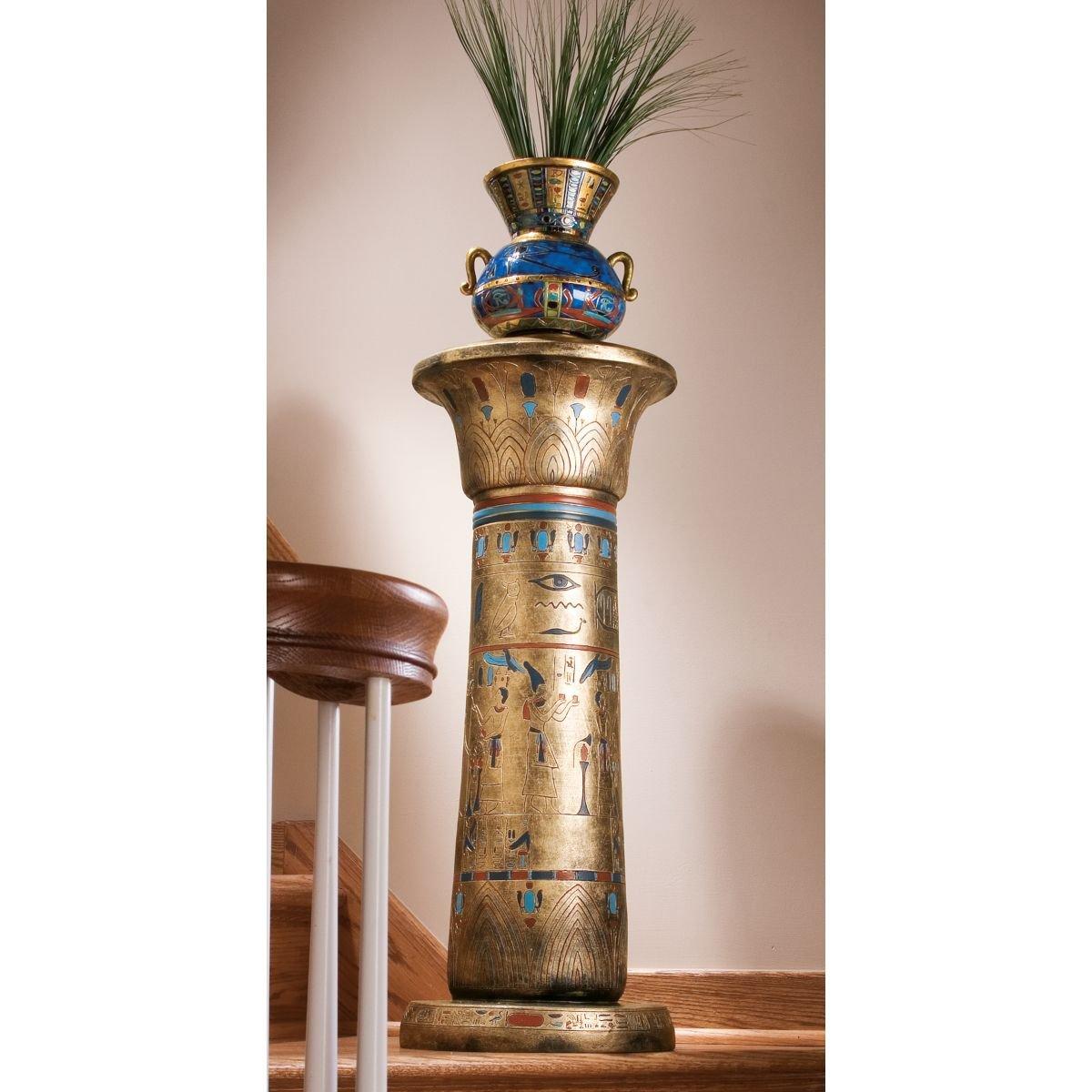 Amazon 32 classic egyptian sculpture column pedestal flower amazon 32 classic egyptian sculpture column pedestal flower vase stand home kitchen reviewsmspy