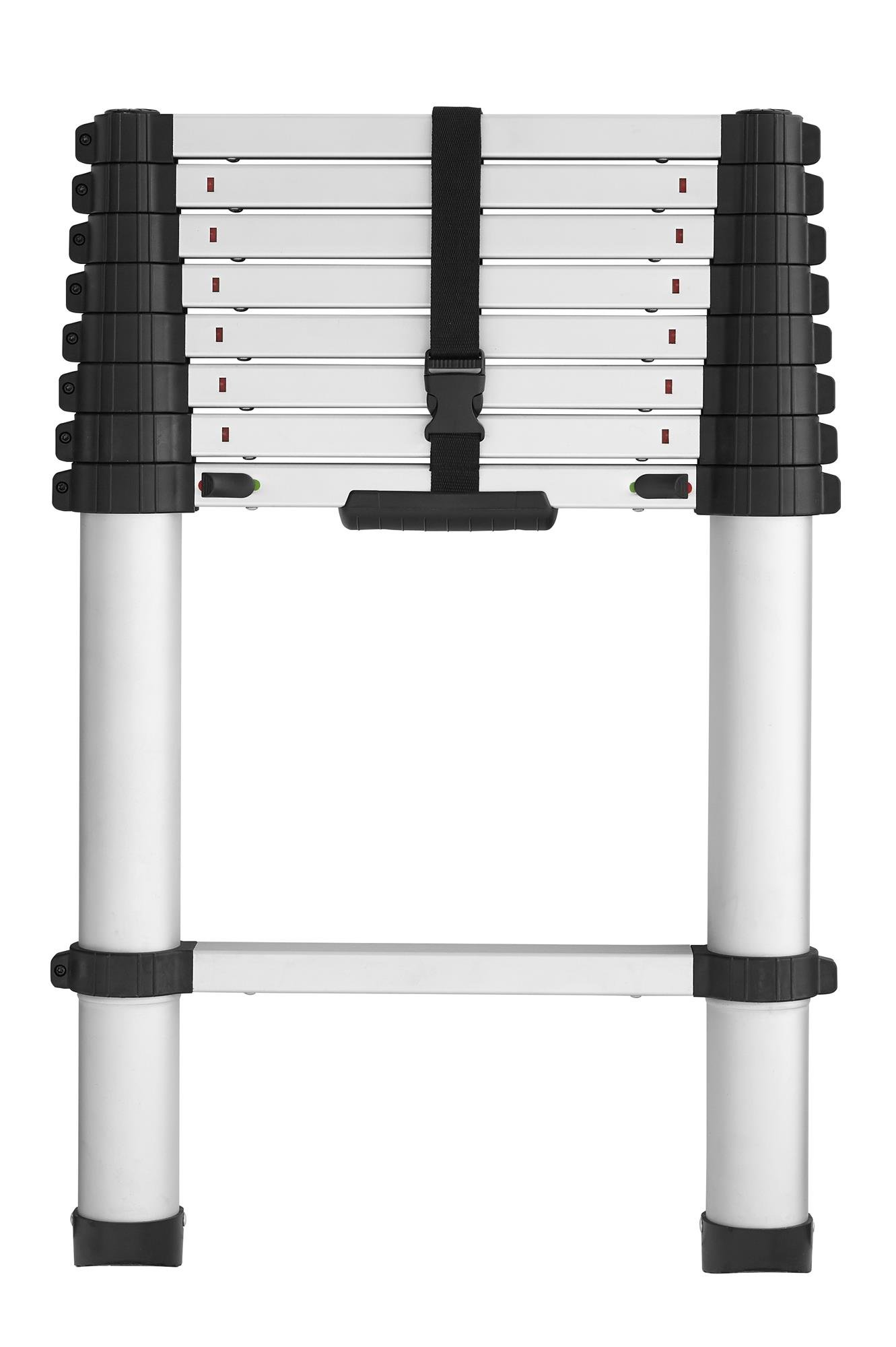COSCO 20309T1ASE SmartClose Telescoping Aluminum Ladder with Pinch-Free, Soft-Close Locking Mechanism (300-Pound Capacity, 8.5 ft. ladder with 12 ft. Max Reach) by Cosco