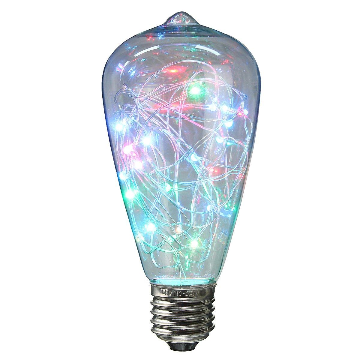 KINGSO E27 LED Edison Lampe RGB LED Lampe Globe Vintage Glühbirne Bunte  Lichterkette Lampe Bulb Deko