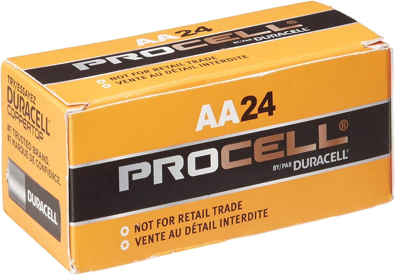 AA Gillette PC1500BKD Duracell Alkaline Battery Pack of 24 1.5V