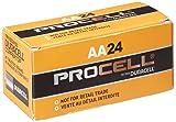 Gillette PC1500BKD Duracell Alkaline Battery, AA, 1.5V (Pack of 24)