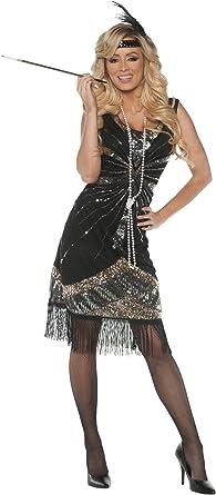 Deluxe Ladies 20s 1920s Roaring Flapper Costume Sequin Gatsby 20/'s Fancy Dress