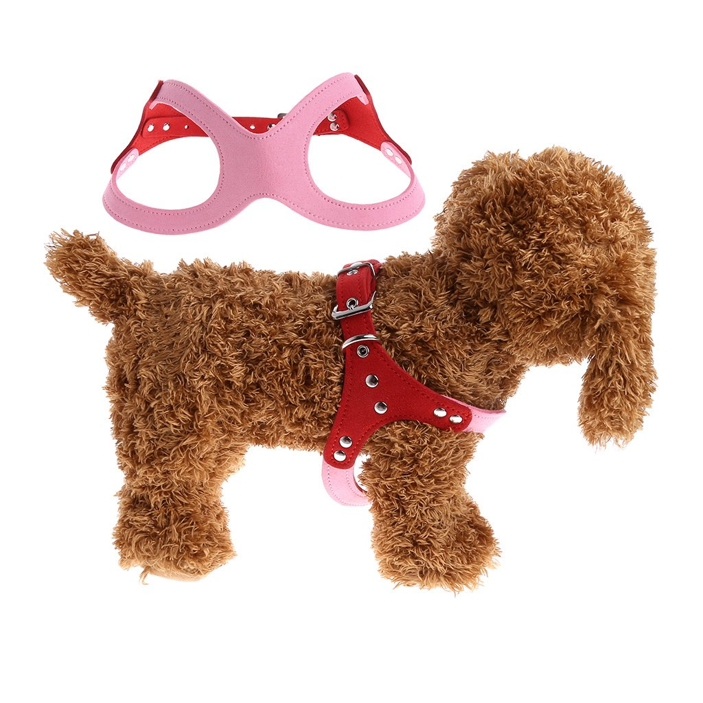 Pet Harness Leash,OHTOP Pet Dog Rabbit Ferret Adjustable Soft Fleece Harness Leash Strap(pink S)