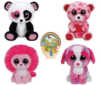 ff51e6e44f1 Amazon.com  Ty Beanie Boos Valentine - FLUFFY Pink Lion