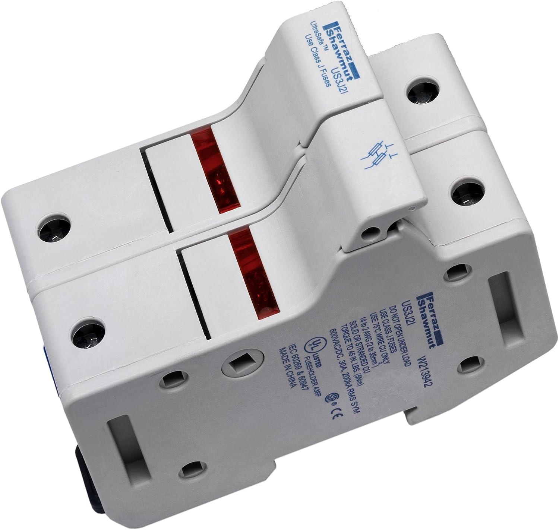 Amazon.com: Mersen US6J3I Amp-Trap 2000 SmartSpot Class J Recommended Fuse  Block with Box Connector, 31-60 Ampere, 3 Pole: Home ImprovementAmazon.com