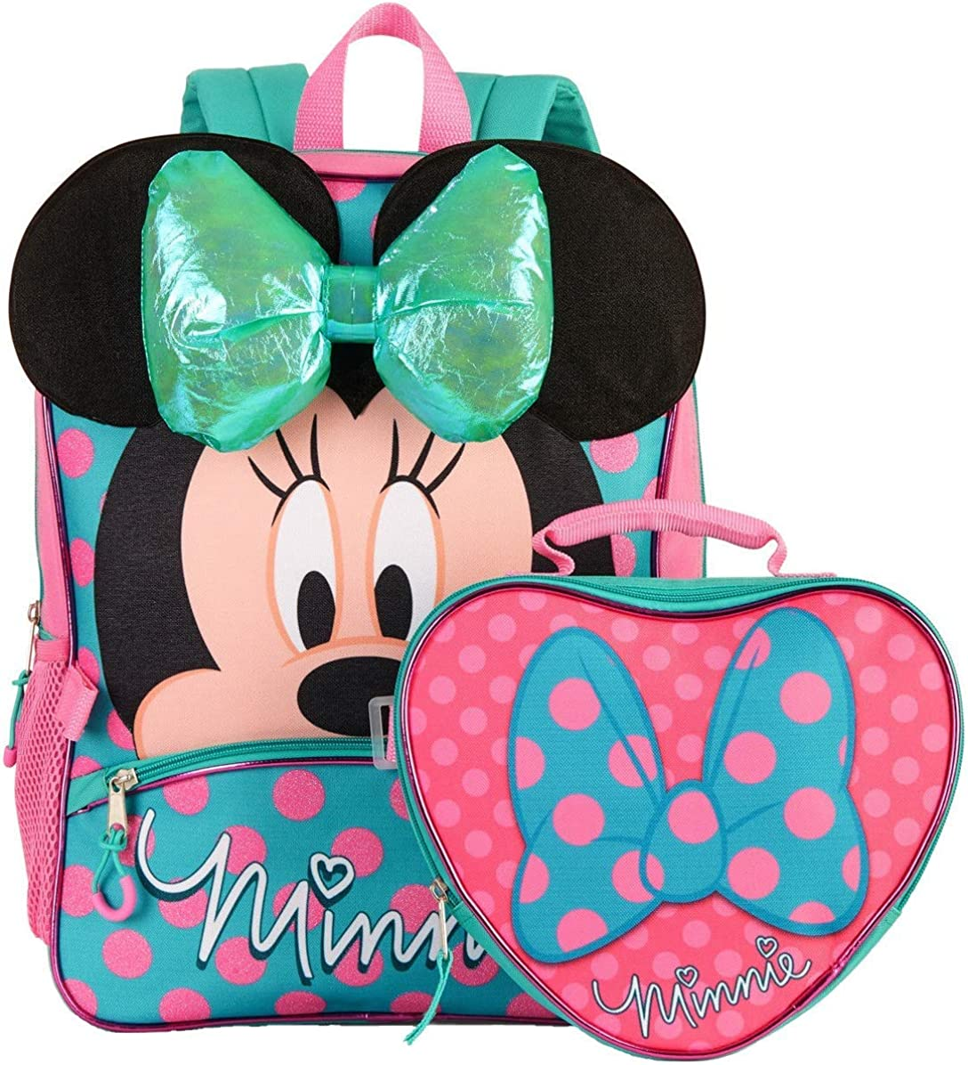 Minnie Mouse Backpack and Lunch Bag Set