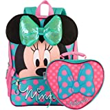 """Disney Minnie Mouse 16"""" Backpack and Lunch Bag 2 Piece Set 3D Bow"""