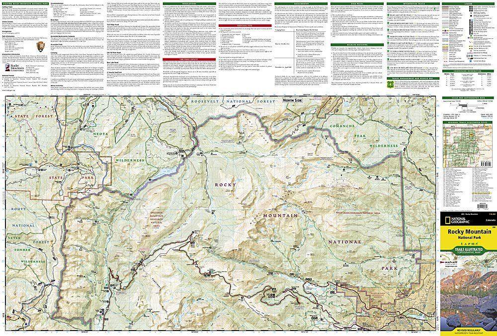 Rocky Mountain National Park: Trails Illustrated National ...