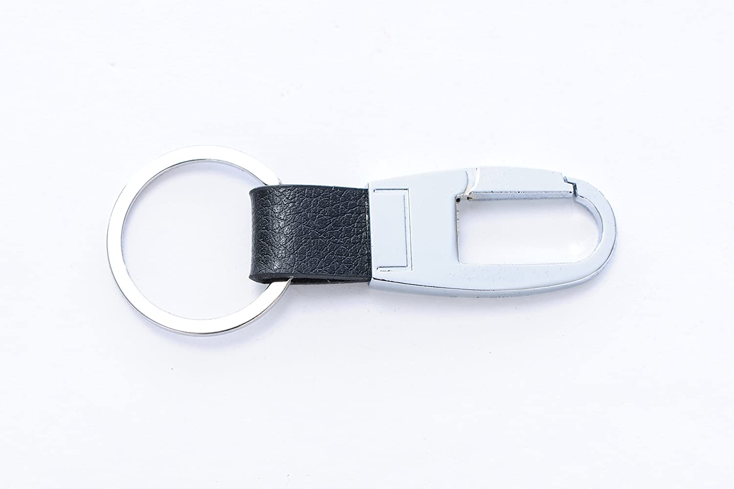Top Black Leather Keychain for Men and Women - Grained Leather Key Ring Holder - Easy to Use - Strong Metal Ring and Clasp - Easily Fits in Pocket - Valet Key Chain - Quality Guaranteed hot sale