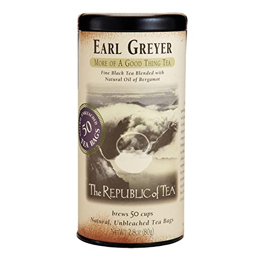 The Republic of Tea, Earl Greyer Tea, 2.8 Ounce, 50 Count