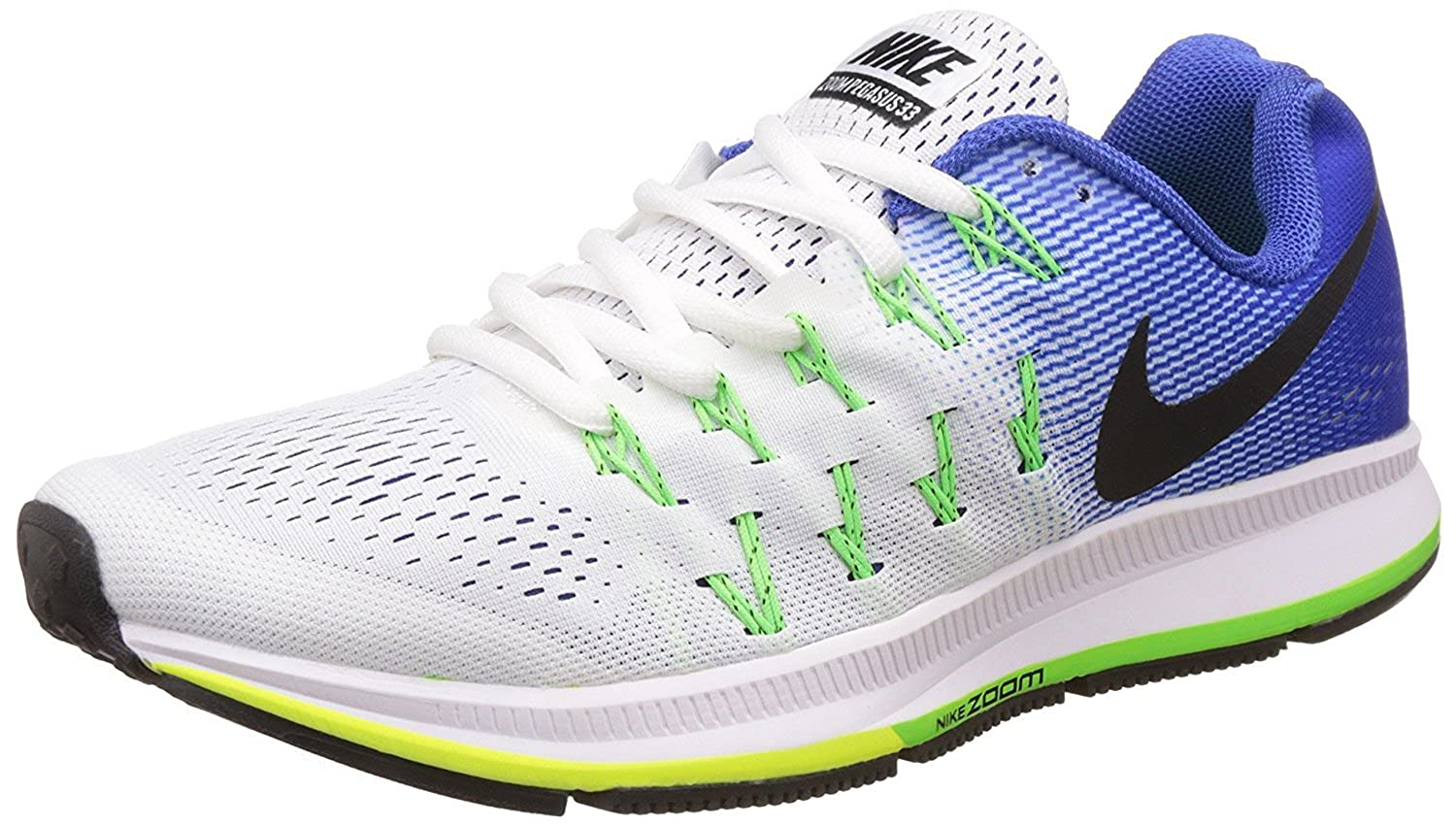 4832a7364 Airmax Air Zoom Pegasus 33 WHITE BLUE Running Sport Shoes: Buy Online at  Low Prices in India - Amazon.in