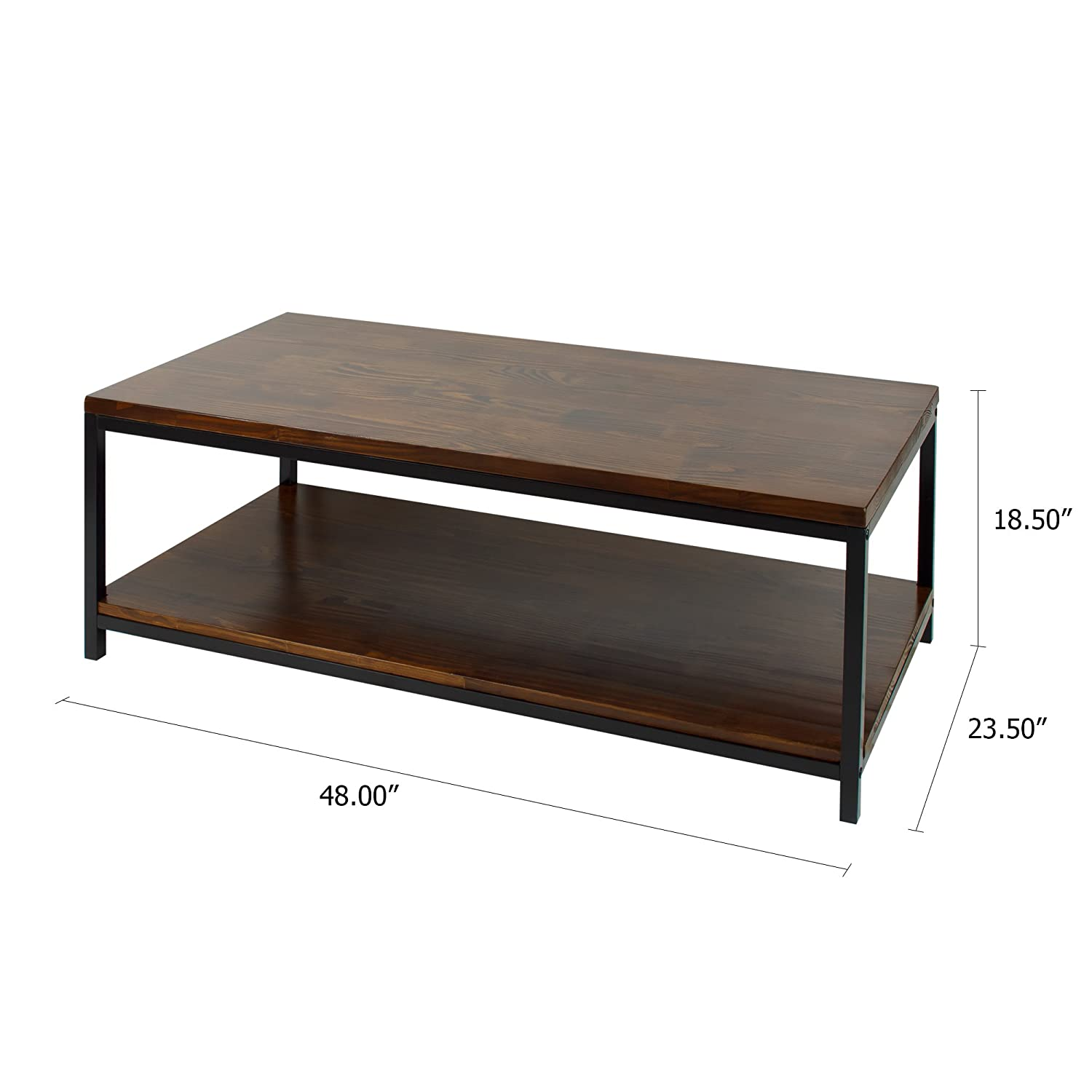 Amazon.com: Casual Home Metro Coffee Table With Black Frame, Mocha: Kitchen  U0026 Dining