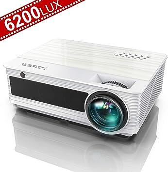 Vidéoprojecteur, YABER 6200 Lumens Vidéo Projecteur Full HD 1920x1080P Natif Soutien 4K Rétroprojecteur, 78,000 Heures 300