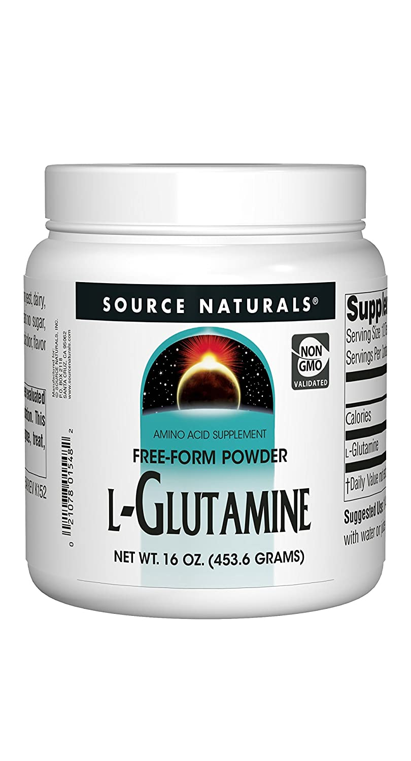Source Naturals L-Glutamine Powder – Free Form Amino Acid That Supports Metabolic Energy – 16 oz