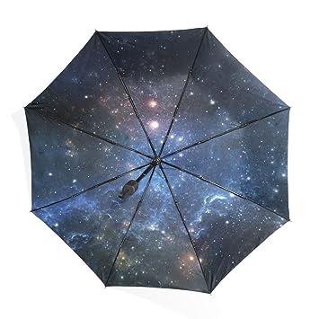 Mi Diario Galaxy Star Fashion paraguas sol lluvia ligero plegable paraguas para al aire libre