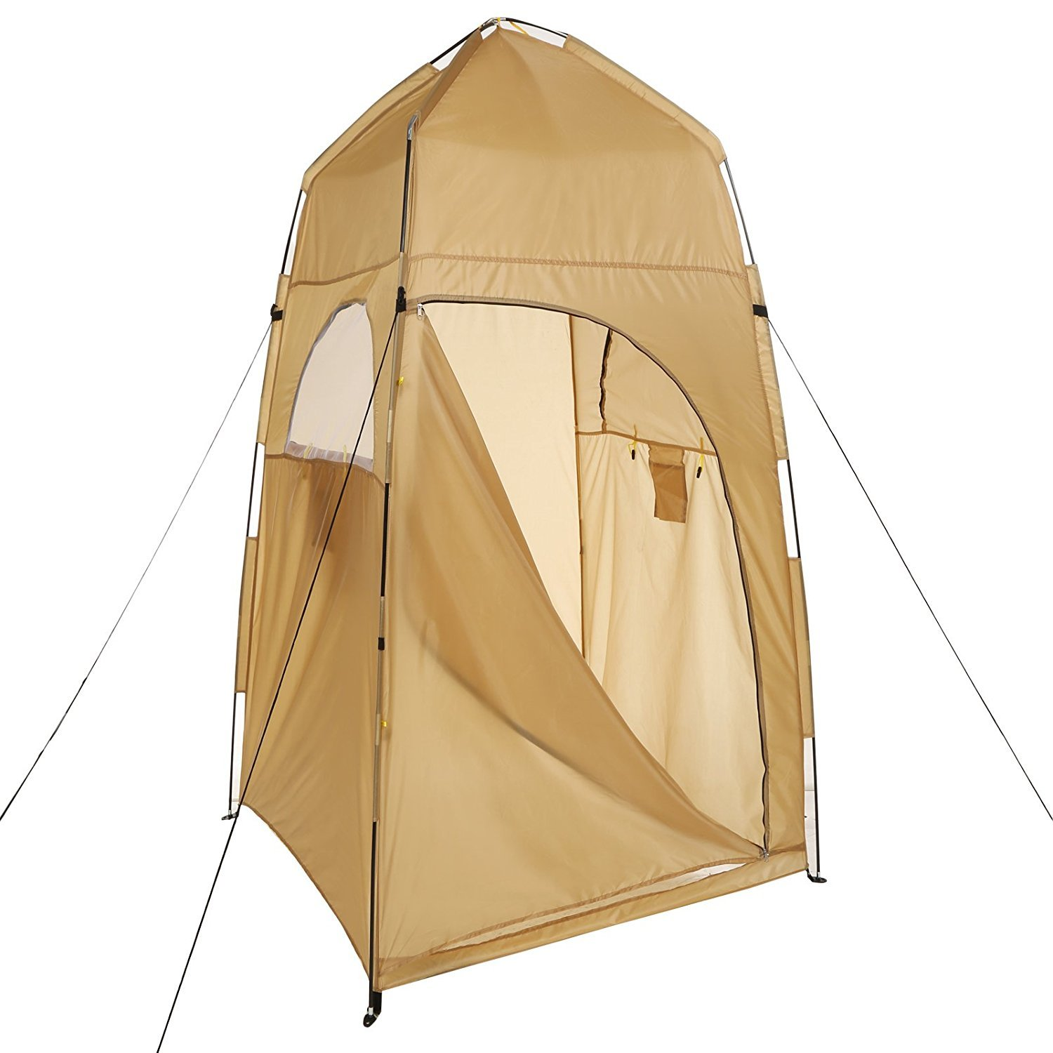 Camping Privacy Shower Tent, Portable Potty Toilet Tent, Outdoor Pop Up Changing Tent with Mesh Window and Carrying Bag
