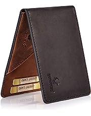 c192a159da2f5 Donbolso Geldbörse Madrid mit Münzfach Leder Herren Mini Geldbeutel Flach  RFID Portemonnaie Geldklammer Slim Wallet Brieftasche