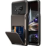 Vofolen Case for Galaxy Note 9 Case Wallet 4-Slot Pocket Credit Card ID Holder Scratch Resistant Dual Layer Protective Bumper