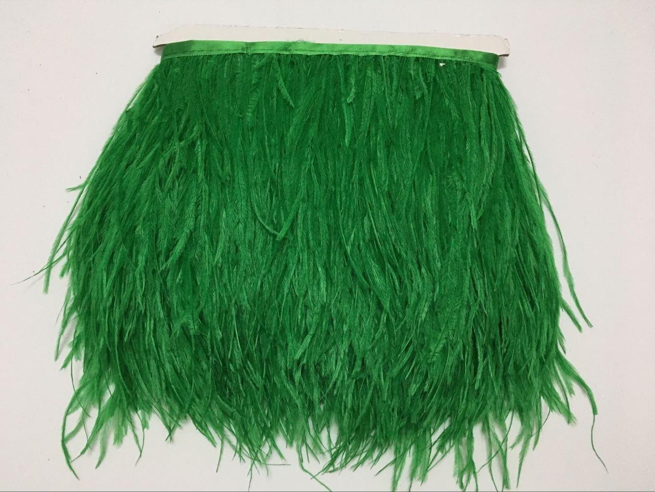 MELADY 10 Yards Fashion Dress Sewing Crafts Costumes Decoration Ostrich Feathers Trims Fringe with Satin Ribbon Tape Orange