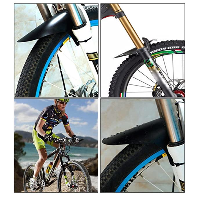 Mountain Bike Bicycle Front Rear Black Tire Mudguards Mud Guard Fender Set6ON