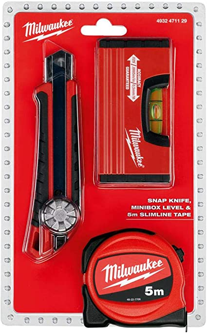 MILWAUKEE Meter Pack 5m - Cutter - Minibox nivel 4932471129: Amazon.es: Bricolaje y herramientas