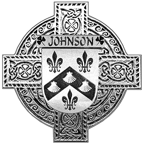 Johnson Irish Coat of Arms Celtic Cross Badge     - Amazon com