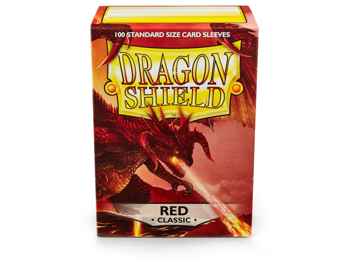 10 Packs Dragon Shield Classic Red Standard Size 100 ct Card Sleeves Display Case by Dragon Shield (Image #4)