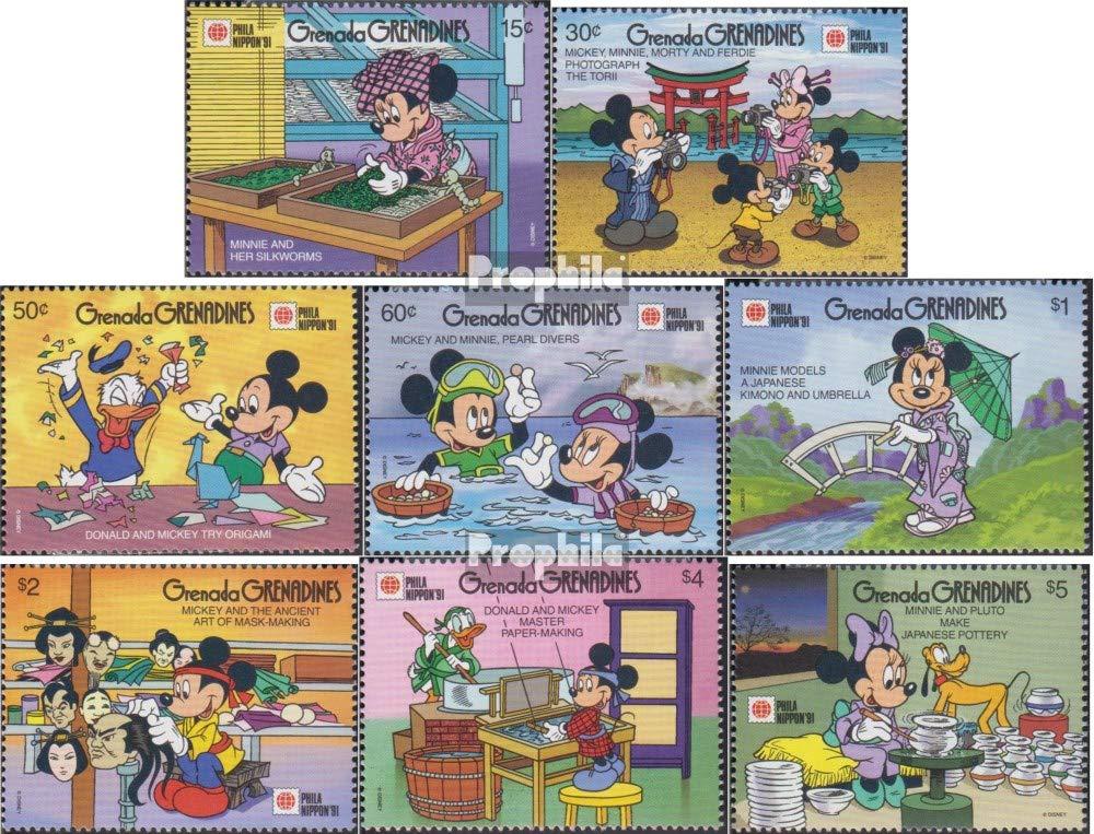 1991 Walt-Disn.-Cifre in Giappone Francobolli per i Collezionisti Prophila Collection Grenada-Grenadine 1430-1437 Completa Edizione Fumetto