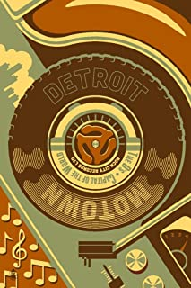 product image for Detroit, Michigan - Motown and Motor City (9x12 Art Print, Wall Decor Travel Poster)