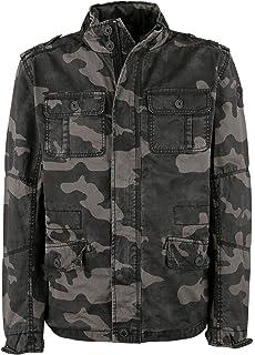 136fe13326745 Brandit Men's Windbreaker Dark Camo at Amazon Men's Clothing store: