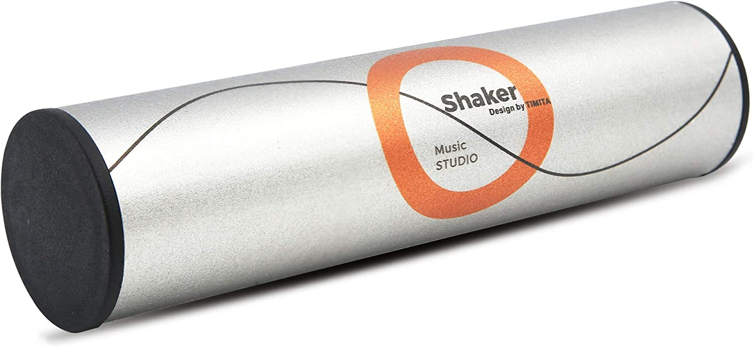 Music Percussion Shaker of StudioMix, Studio Shaker of Standard Size Perfect for Recording and Live Shows, Sand Shaker of Zero Artist Series, White Color