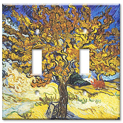 Art Plates - Van Gogh: Mulberry Tree Switch Plate - Double Toggle (Double Decorative Switchplate)