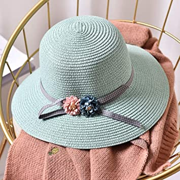 c7cbeaf5872 Image Unavailable. Image not available for. Color  DOMREO Beach Hat All-Match  Women Sun Hat Wide Brim ...