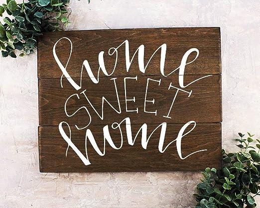 Prz0vprz0v Home Sweet Home - Cartel rústico de Madera para ...