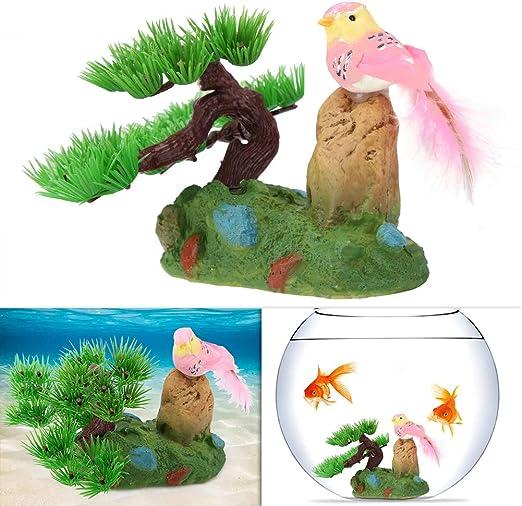 Decoraciones para acuarios, Adornos de Plantas de Agua Artificial vívida de plástico para Jardines de Tanques de Peces bajo el Agua: Amazon.es: Productos para mascotas