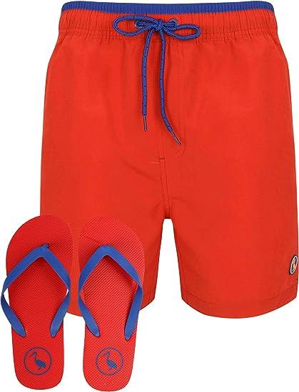 TALLA S. South Shore Vaughan - Juego de pantalones cortos de surf y chanclas para hombre