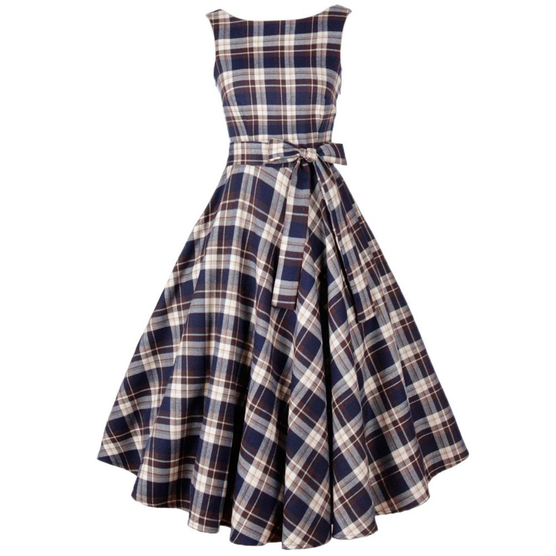 SMITHROAD Weinlese Serenity Kleid 50er-Jahre-Stil Blume Schwingen Pinup Rockabilly Mit Gürtel