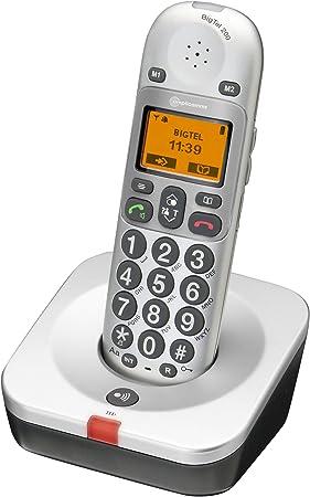 Amplicomms BigTel 200 - Teléfono inalámbrico con teclas grandes y altavoz [Importado de Francia]: Amazon.es: Electrónica