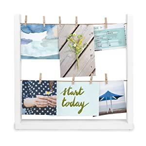 Umbra Hangit Desk Photo Display, White, Desktop