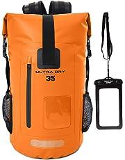 Premium 35L Waterproof Dry Bag Backpack, Sack with Phone Dry Bag, Perfect for Boating/Kayaking/Hiking/Canoeing/Fishing/Rafting/Swimming/Camping/Snowboarding