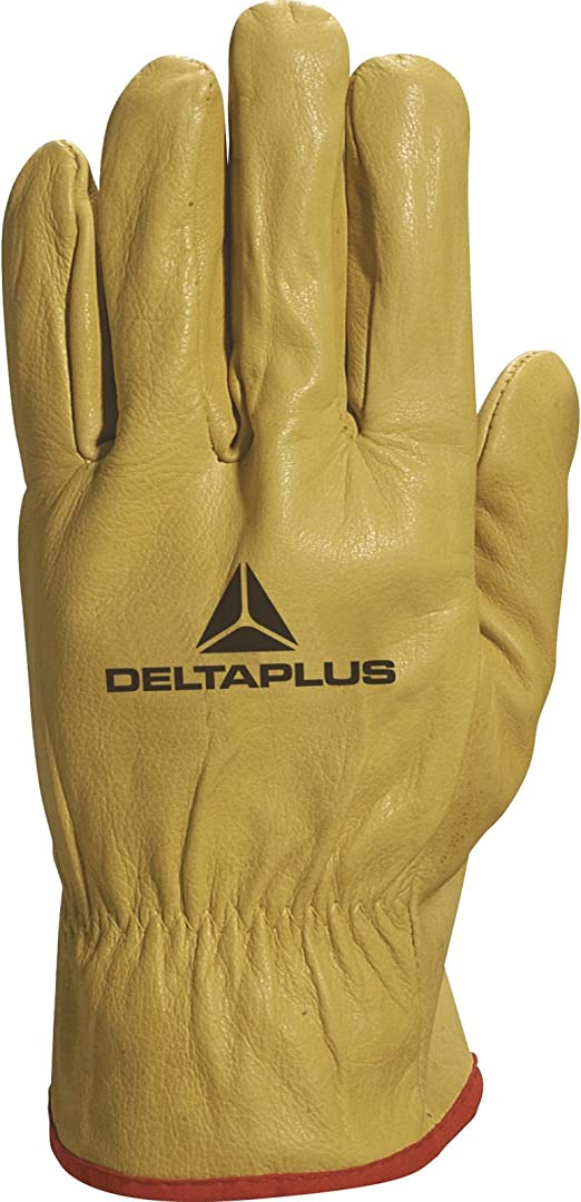 DELTA PLUS FBJA49 SAFETY LEATHER WORK GLOVES FORK LIFT GARDENING BUILDERS PPE SZ