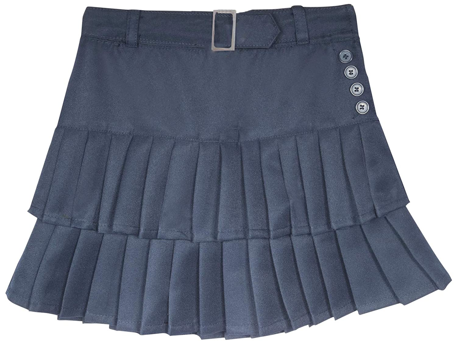 Beverly Hills Polo Club Girls School Uniform Belted Pleated Scooter Skirt