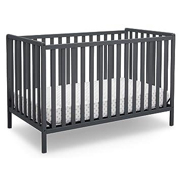 Amazon Com Delta Children Heartland 4 In 1 Convertible Crib Charcoal Grey Baby