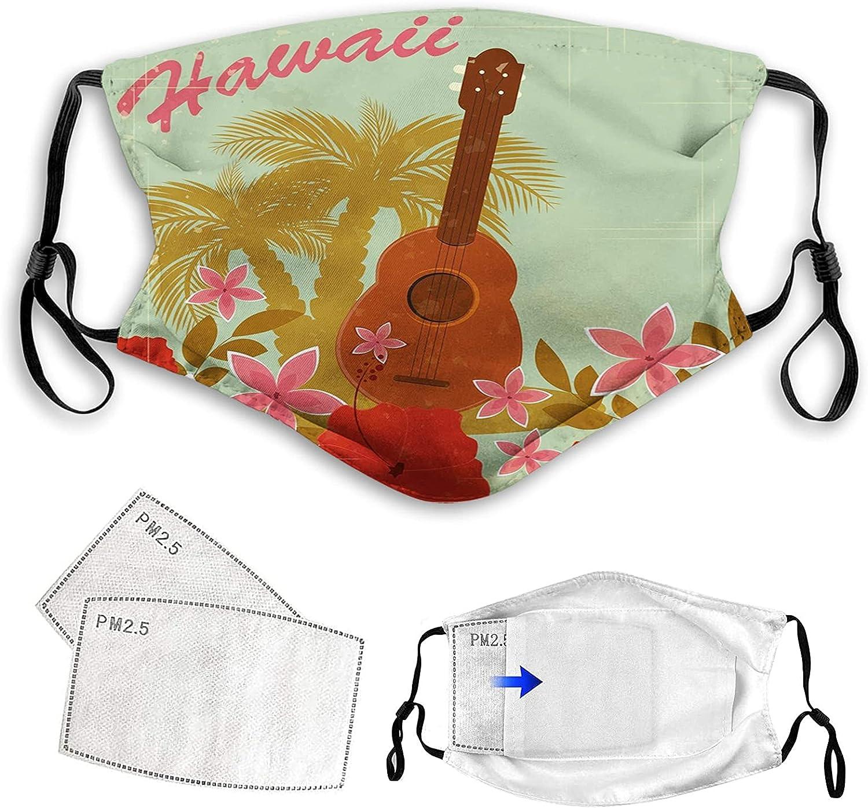 FDIN 빈티지는 하와이 부드러운 컬러 포스터 디자인 악기는커 열대 꽃색