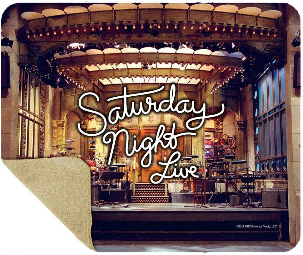Amazon.com: Saturday Night Live Stage Faux Mink Sherpa Throw ...