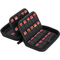 MoKo 80 Game Card Storage Holder Cartridges Card Organizer Shockproof Water Resistant Card Holder Anti-Scratch Carrying…