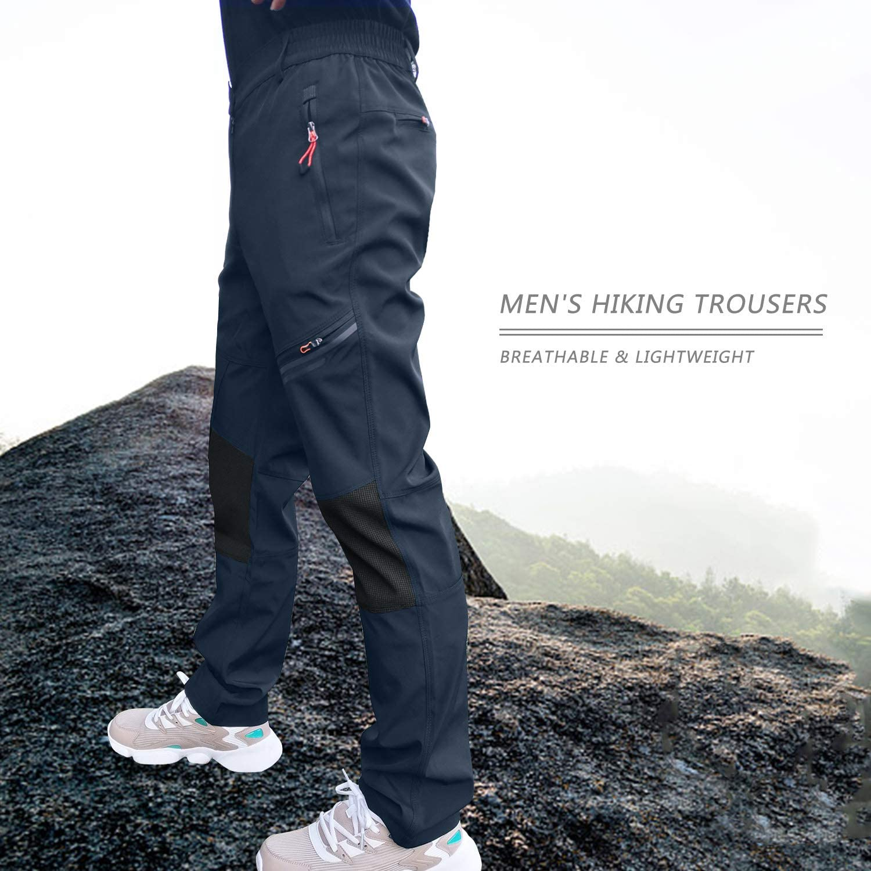 7VSTOHS Pantalon de randonn/ée en Plein air Hommes Pantalon de Marche l/éger et Respirant Tenue de Sport Pantalon d/équitation de Course descalade