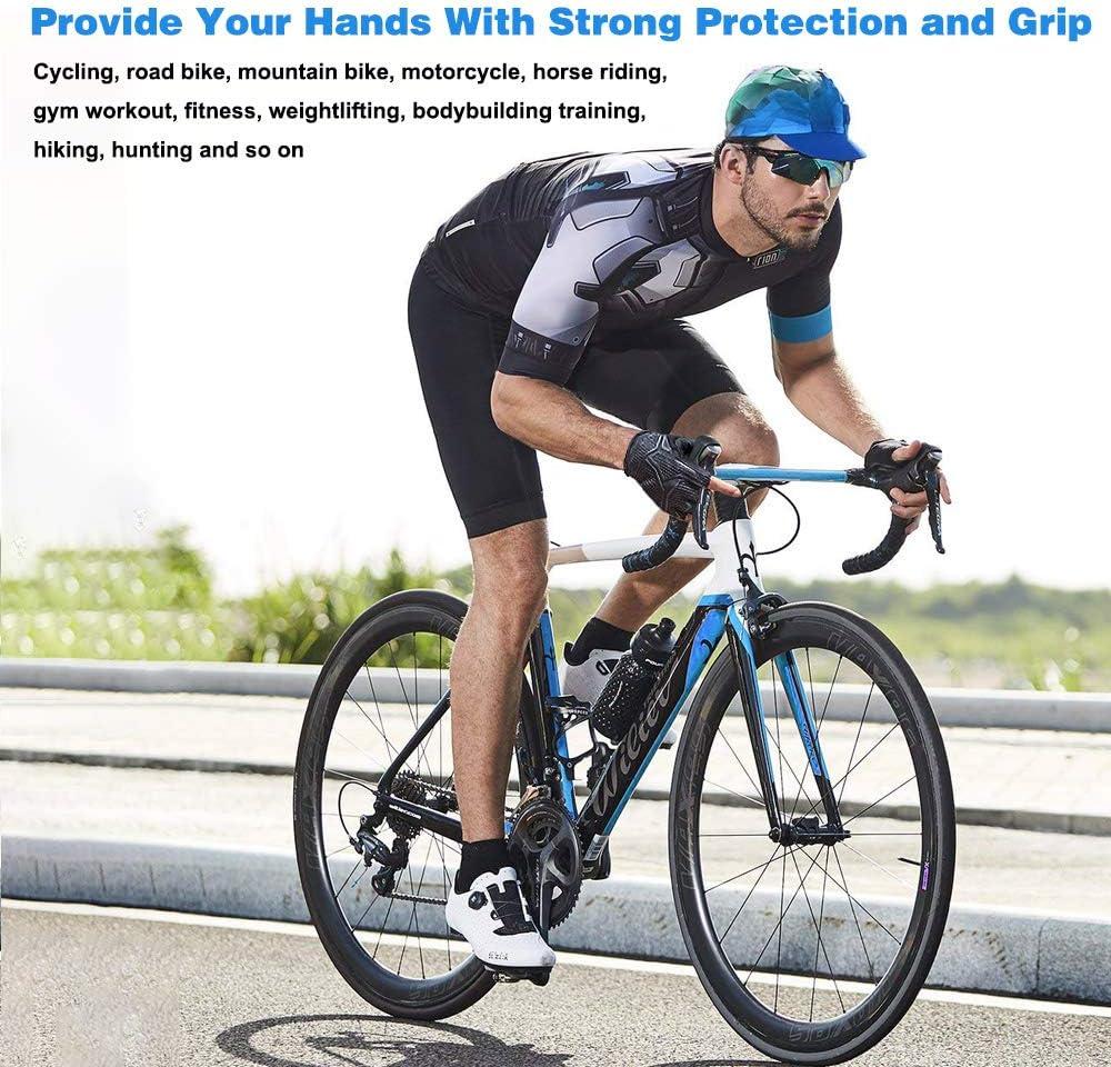 1 Paire Demi Doigt Cyclisme Gants Sbr Éponge Remplissage Vélo Bicyclette Cycle