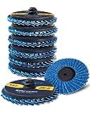 S SATC 10 PCS 2 Inch Quick Change Flap Disc 80 Grit Roloc Flap Discs T27 Roloc Sanding Disc with High Density Zirconia…