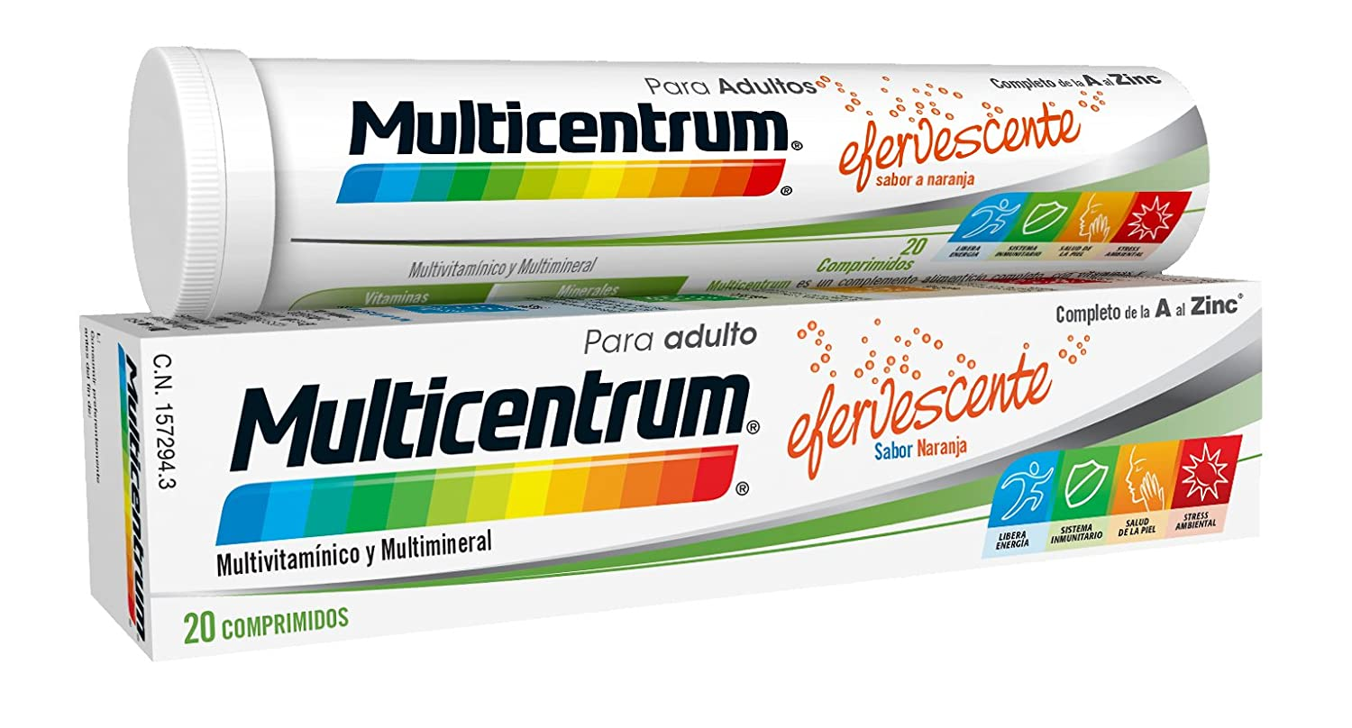 Amazon.com: MULTICENTRUM 20 COMPRIMIDOS EFERVESCENTES VARIOS: Health ...
